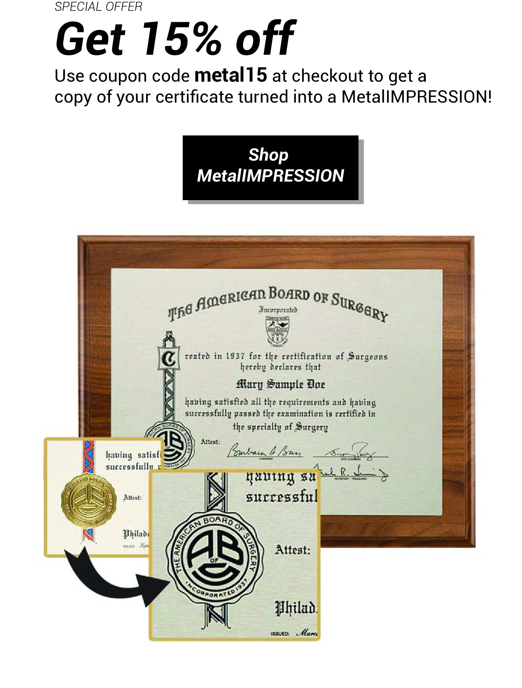 MetalImpression Coupon